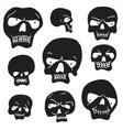 Skulls cartoon set vector