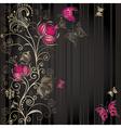 Vintage dark striped easter elegance frame vector