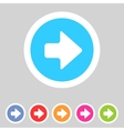 Flat game graphics icon arrow right vector