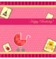 Scrapbooking for baby girl vector