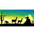 Llama wildlife background vector
