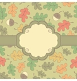 Autumn seamless pattern with label vector