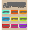 Icon trucks with tanks vector