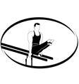 Gymnastics on the uneven bars vector