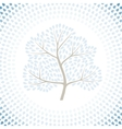 Winter tree season abstract background vector
