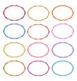 Colorful set of oval vintage frames vector