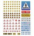 Traffic signs set vector