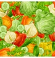 Vegetables mix seamless background vector