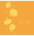 Thanksgiving golden pumpkins vertical frame vector
