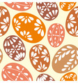 Seamless spring pattern with floral easter eggs vector