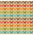 Seamless pattern with butterflies in retro style vector