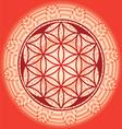 Flower of life seed mandala vector