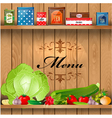 Shelves wooden3 vector