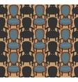 Pattern with armchairs vector