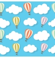 Retro seamless pattern with air balloons vector