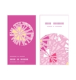Pink abstract triangles vertical round frame vector