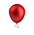 Red balloon isolated on white background vector