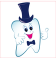 Cartoon tooth with thumb vector