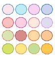Colorful set of circle vintage labels vector