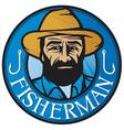 Fisherman sign vector