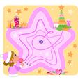 Christmas maze game for kids vector