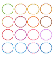 Colorful set of circle vintage frames vector