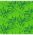 Pattern with leaves of tropical plants vector