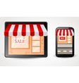 Online store shopping concept on smartphone vector