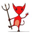 Cute cartoon devil vector