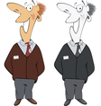 Office worker cartoon vector