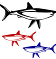 Shark black and white outline vector