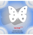 Butterfly flat modern web button on a flat vector