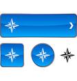 Compass button set vector