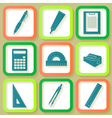 Set of 9 icons of instruments vector
