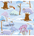 Forest seamless winter 380 vector