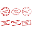 Made in usa stamps vector