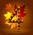 Glossy retro autumn lighted up abc vector