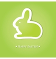 Abstract cartoon easter card with cute bunny vector
