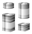 Tin conserve can set vector