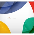 Bright colorful business flowing shapes design vector
