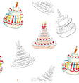 Seamless background with wedding cake vector