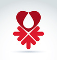 Charity and donation symbol - of a red heart vector