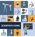 Scientists icon set vector