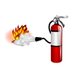 Fire extinguisher use vector