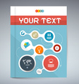 Blue modern book or brochure cover design - vector