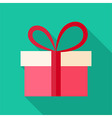 Present box with big bow vector