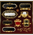 Vintage gold framed labels vector