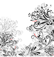 Floral abstract pattern vector