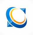 Abstract circle communication logo vector