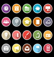 School icons with long shadow vector
